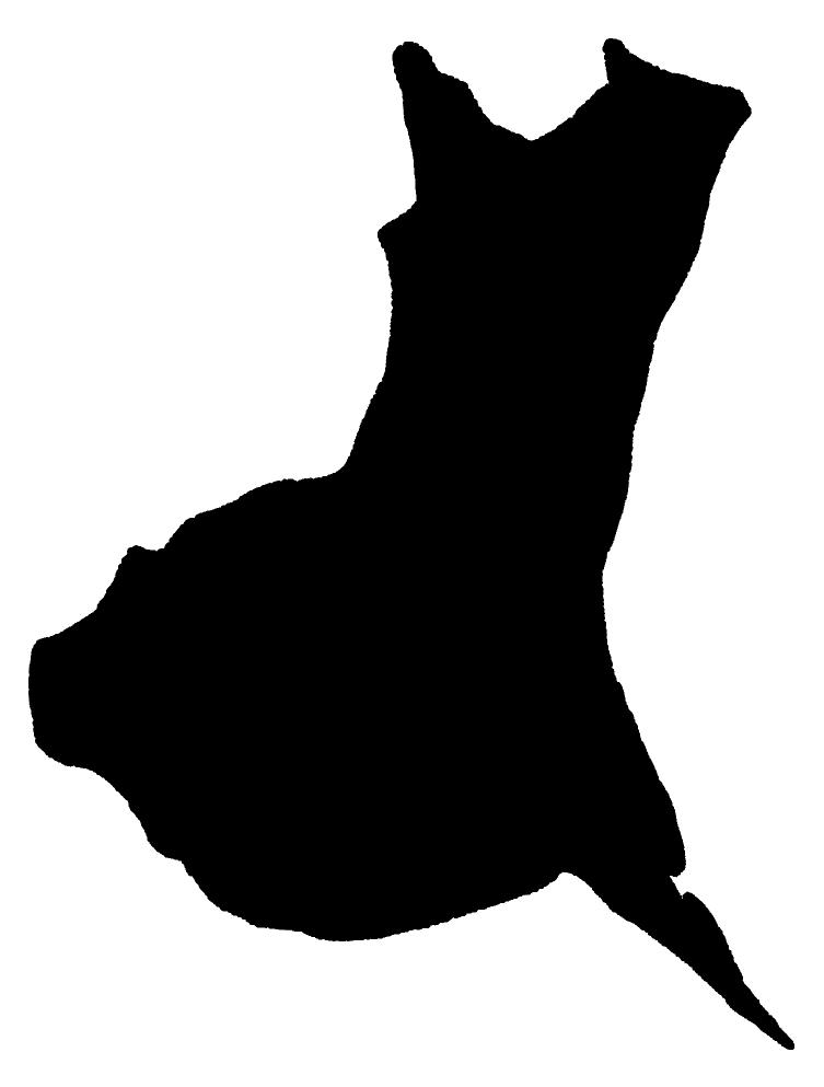 茨城の大陸シルエット