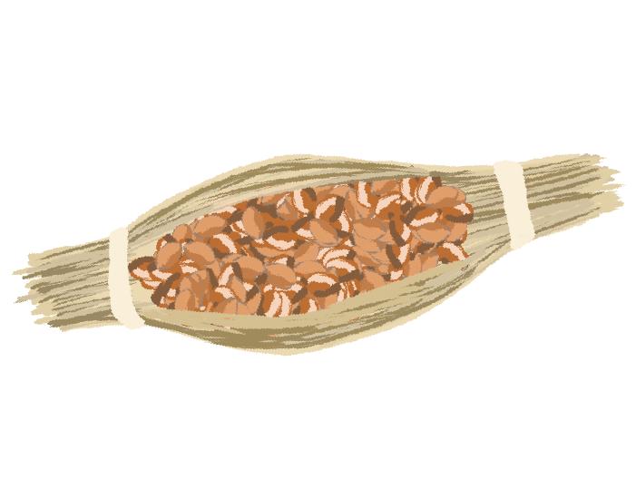 水戸納豆のイラスト