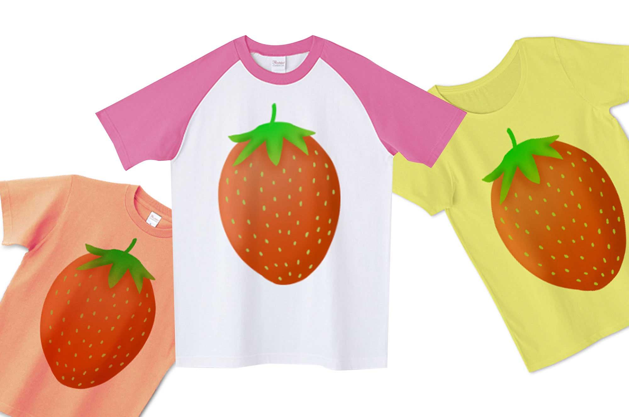 いちごTシャツ - とっても可愛いフルーツデザインT