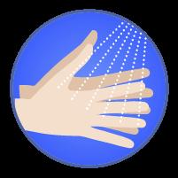 手指消毒アイコンのイラスト2