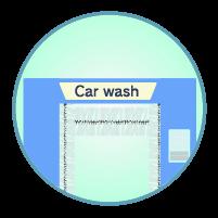 洗車機アイコンのイラスト