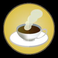 コーヒーアイコンのイラスト