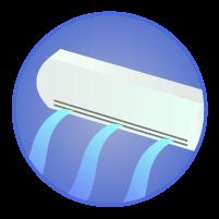 エアコン冷房アイコンイラスト