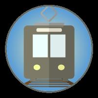 電車アイコンイラスト2