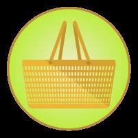 買い物カゴアイコンイラスト