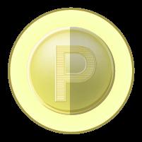 ポイントコインアイコンのイラスト