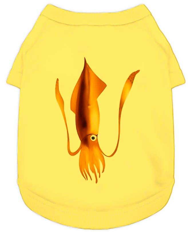 イカのドッグTシャツ