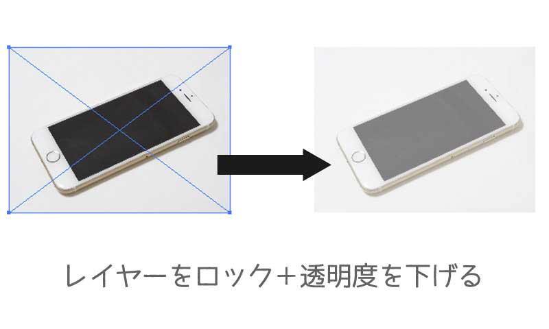 スマートフォンの写真を透明化