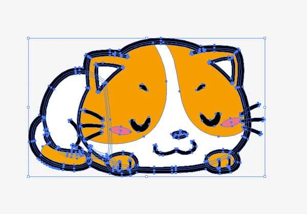 イラストレーターで作成されたネコのイラスト