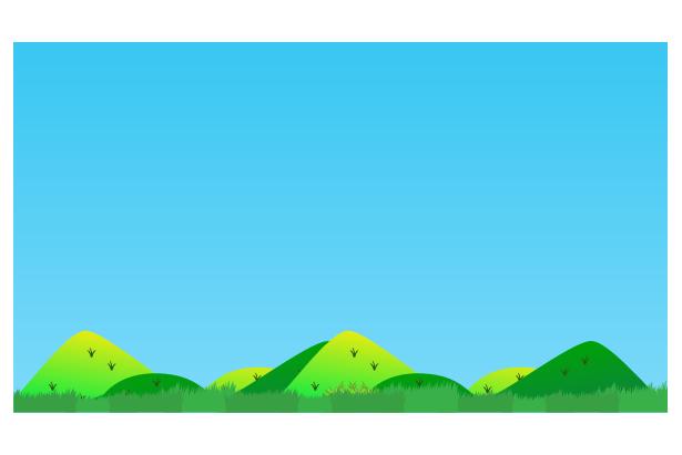 田舎の風景のイラスト
