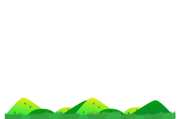 田舎の風景山のみのイラスト