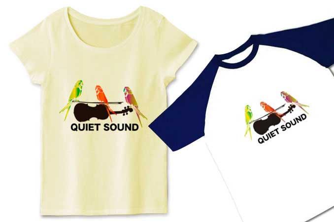 インコイラストを利用して作成したデザインTシャツ