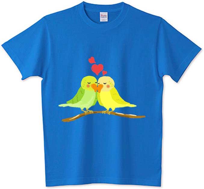 ラブラブなインコTシャツ