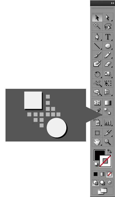 イラストレーターツールパネルのブレンドツールのアイコン