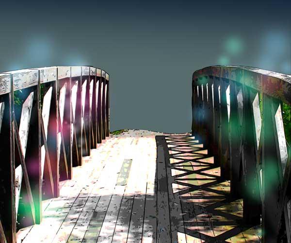 写真を加工してイラストにアレンジした風景