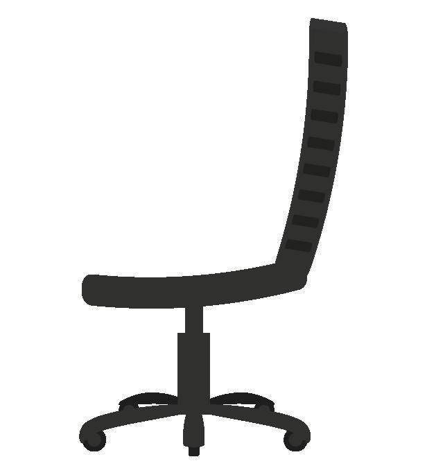 オフィスの椅子(横)のイラスト