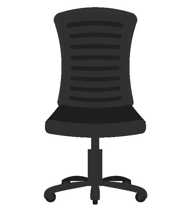 オフィスの椅子(正面)のイラスト
