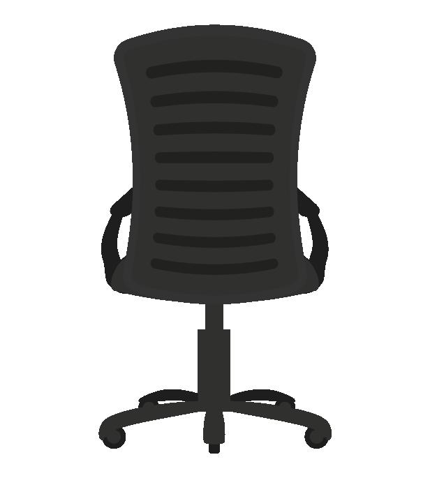 オフィスの椅子(後ろ)のイラスト