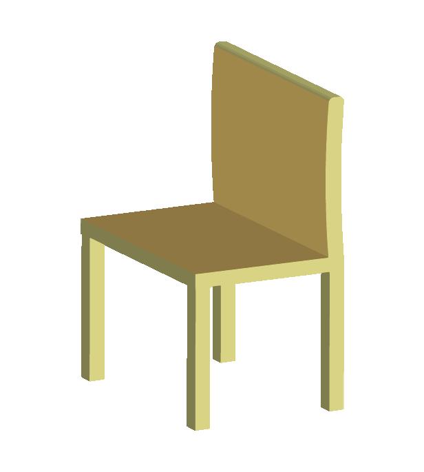 木の椅子(斜め)のイラスト