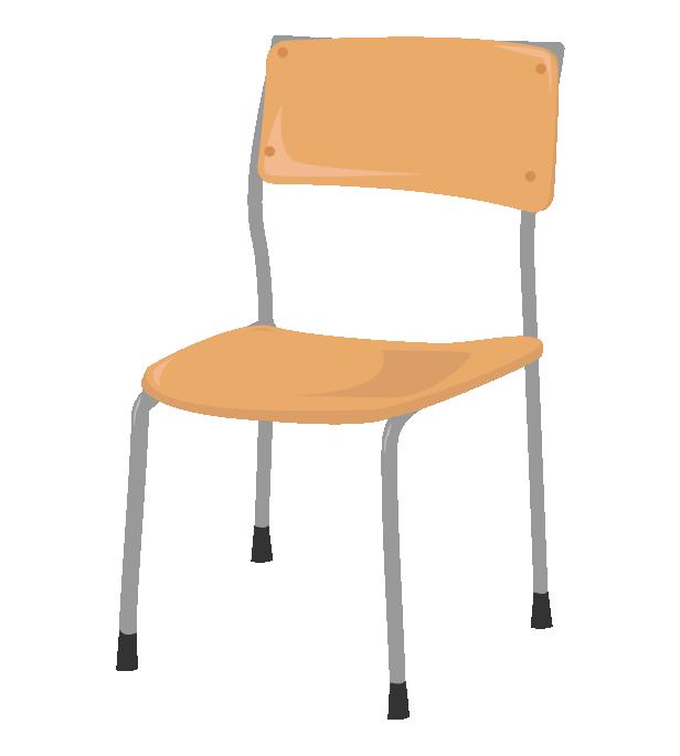 学校の椅子イラスト
