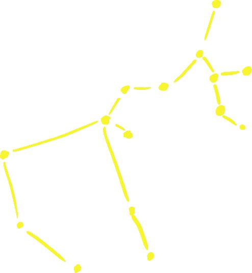 射手座のアートな星図イラスト