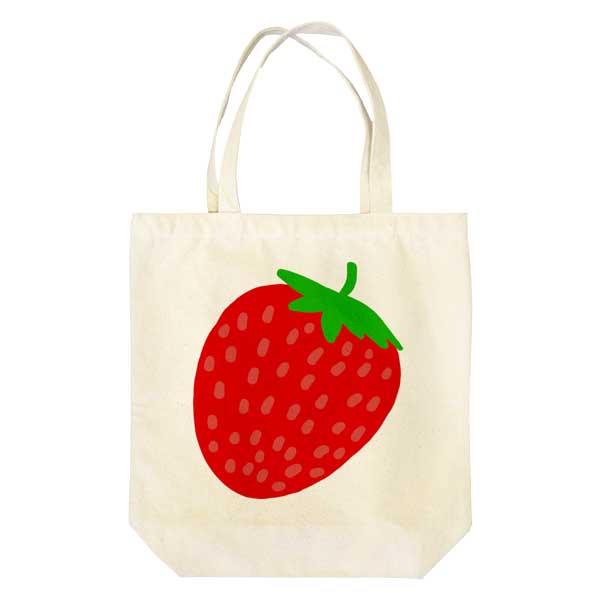 イチゴのイラストバッグ