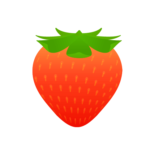 かわいいいちごのイラスト