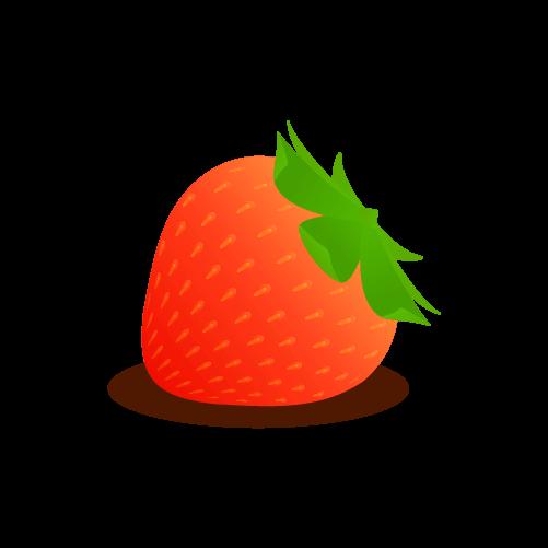 シンプルないちごのイラスト