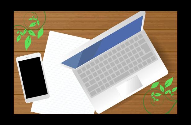 パソコンとスマホのイラスト