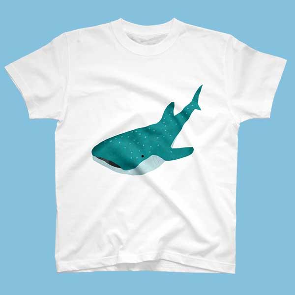 ジンベイザメのイラストTシャツ