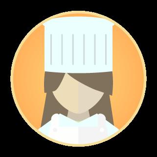 コック・調理師のアイコンのイラスト