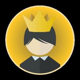 王様アイコンのイラスト
