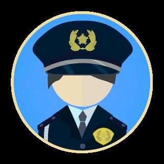 警察官のアイコンのイラスト