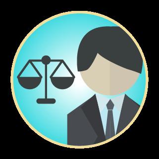 弁護士アイコンのイラスト