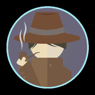 探偵のアイコンのイラスト