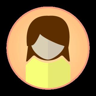 女性アイコンのイラスト
