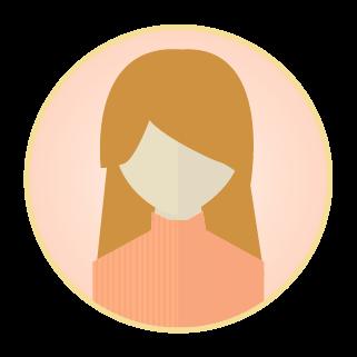 女性アイコンのイラスト2