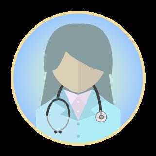 女医のアイコンのイラスト