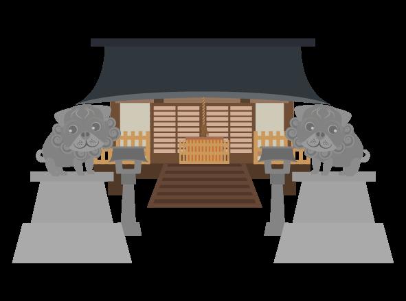シンプルな神社のイラスト