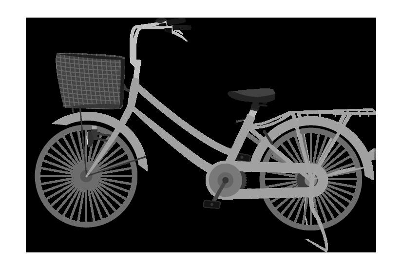 白黒の自転車