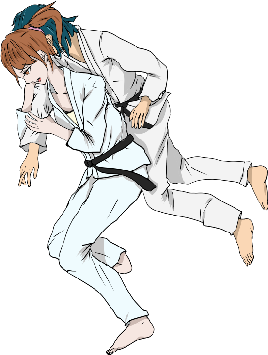 柔道のイラスト(一本背負い投げ)
