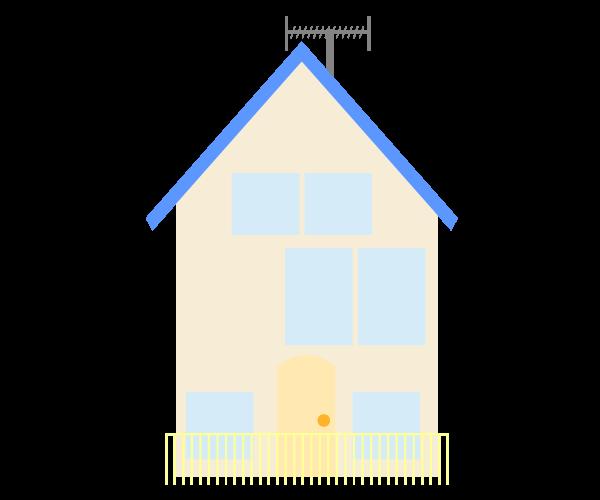 一般住宅のイラスト(中)