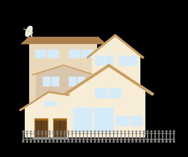 二世帯住宅のイラスト