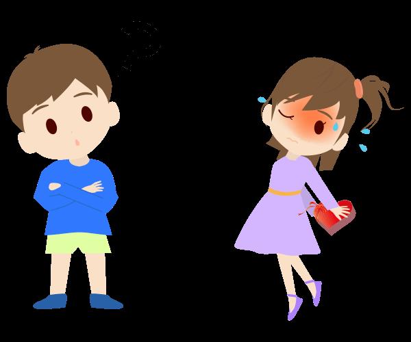 プレゼントと子供のイラスト