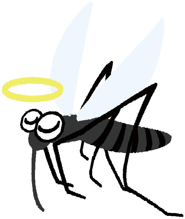 天使になった蚊のイラスト