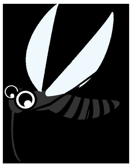 可愛い蚊のイラスト