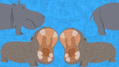 カバイラスト - 歯磨き・親子仲よしでかわいい動物素材集