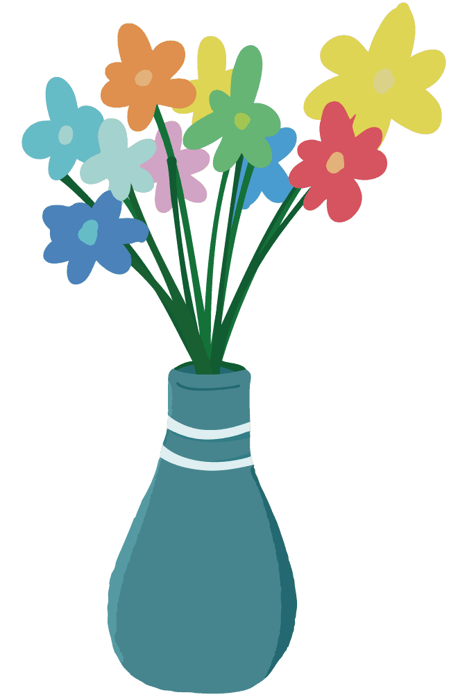ごく普通の花瓶のイラスト