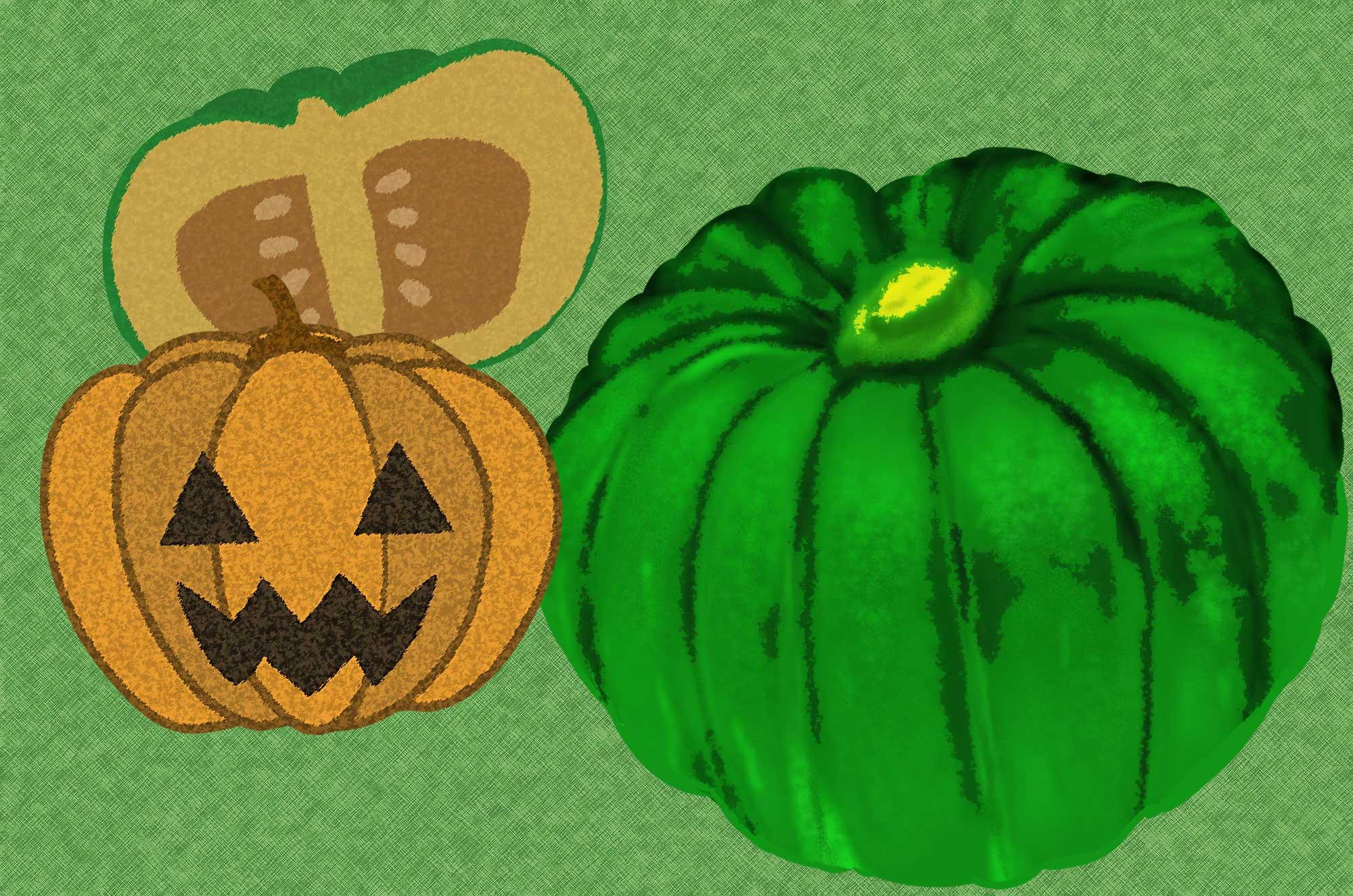 かぼちゃイラスト - フリーの可愛いハロウィン野菜素材