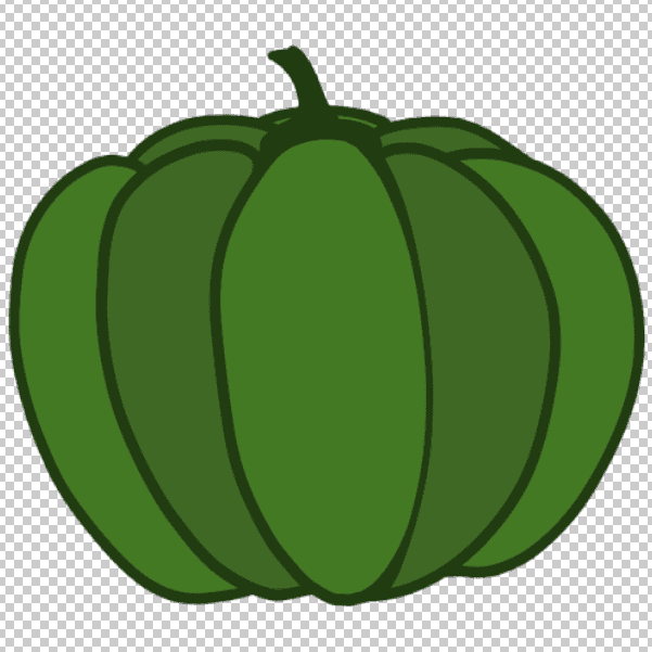 かぼちゃのフリー素材をダウンロードして開く